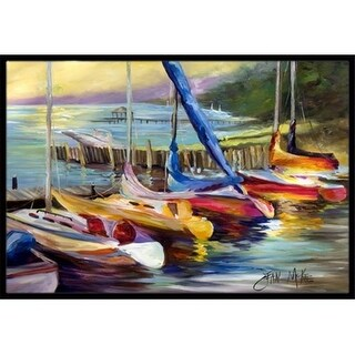 Carolines Treasures JMK1036MAT Sailboats At Sunset Indoor & Outdoor Mat 18 x 27 in.