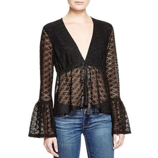 Minkpink Womens Blouse Lace Sheer
