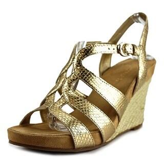 Aerosoles Plush Plenty Women Gold Snake Sandals