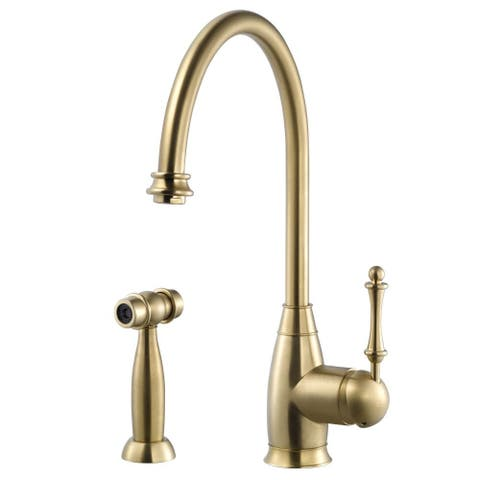 Houzer CHASS-682 Charlotte Traditional Kitchen Faucet with Sidespray