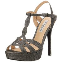 Nina Womens Marzia-YF Open Toe Ankle Strap Platform Pumps