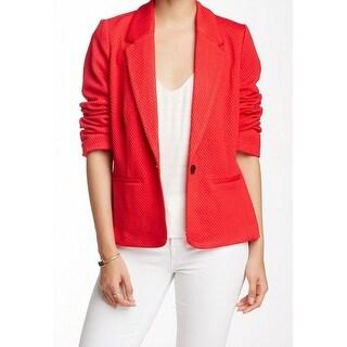 Kensie NEW Red Women's Size Medium M Textured Knit Blazer Jacket