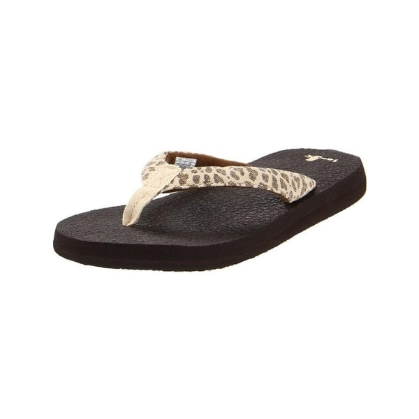 6dbfd3c76b56 Shop Sanuk Womens Yoga Wildlife Flip-Flops Canvas - Free Shipping On ...