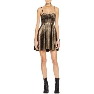 Free People Womens Party Dress Sweetheart Metallic