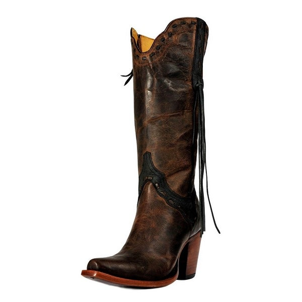 Johnny Ringo Fashion Boot Women Zipper Overlay Mad Dog Choc