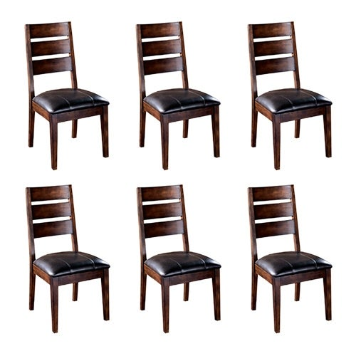 Larchmont Dining UPH Side Chair 2/CN Burnished Dark Brown (6-Pack) Larchmont Dining UPH Side Chair 2/CN Burnished Dark Brown