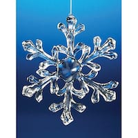 Club Pack of 18 Icy Crystal Decorative Medium Christmas Snowflake Ornaments 6""