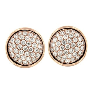 Prism Jewel 1.19Ct Round Cut G-H/SI1 Natural Diamond Stud Earring - White G-H
