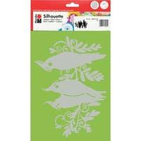 Marabu Silhouette Stencils Dina4-Three Birds