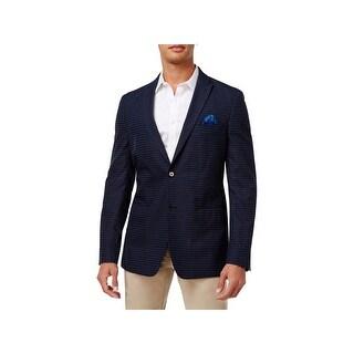Tallia Mens Two-Button Blazer Slim Fit Striped - 36s