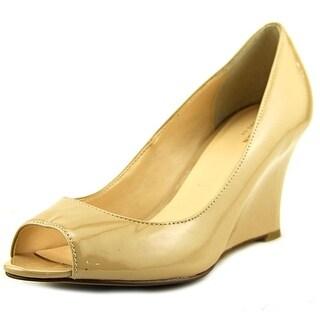 Cole Haan kenzie   Open Toe Patent Leather  Wedge Heel
