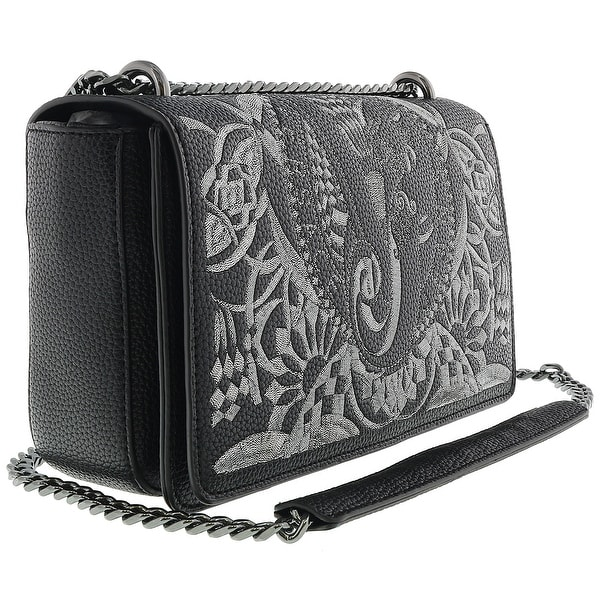 9eceea457a08 Versace EE1VRBBR7 Black Shoulder Bag with silk thread embroidery