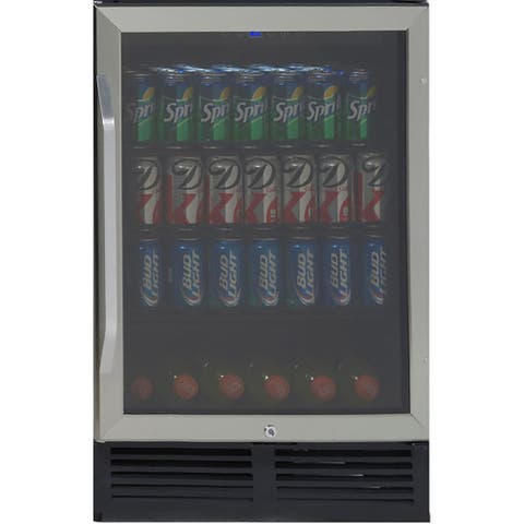 Avanti BCA516SS 5.Cubic Feet Beverage Cooler with Glass Door - Stainless Steel