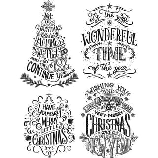"""Tim Holtz Cling Stamps 7""""X8.5""""-Doodle Greetings #2