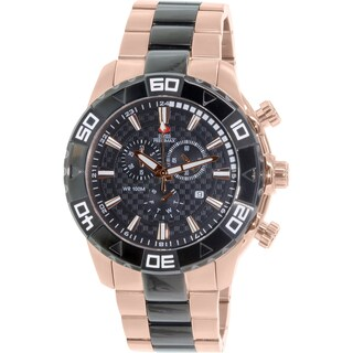 Swiss Precimax Men's Valor Elite SP12055 Rose-Gold Stainless-Steel Diving Watch