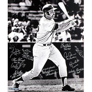 1978 Yankees Multi Signed Thurman Munson BW 20x24 Photo MLB Auth Torrez Lyle Gossage Dent Jackson Randolph River