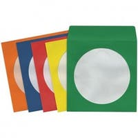 Maxell MXLCD403 CD & DVD Storage Sleeves - Assorted Colors