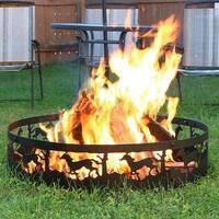 Sunnydaze Running Horse Campfire Ring 36 Inch Diameter