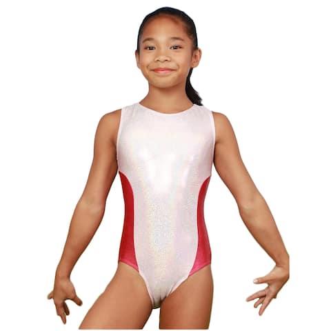 VEVA by Very Vary Girls Pearl Pink Fay Mystique Gymnastics Leotard 12