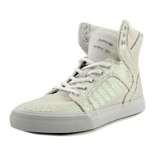 Supra Skytop Girl White Sequin Athletic Shoes
