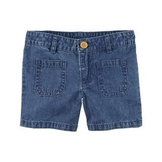 Carter's Little Girls' Patch Pocket Denim Shorts, 6-Kids