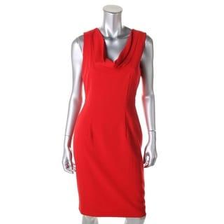 Calvin Klein Womens Woven Cowl Neck Wear to Work Dress - 4
