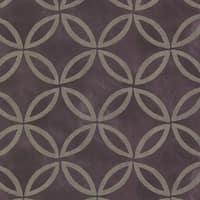 Brewster HZN43123 Cloverleaf Purple Geometric Wallpaper - N/A