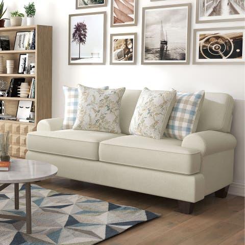 Furniture of America Marais Transitional Ivory Chenille Loveseat