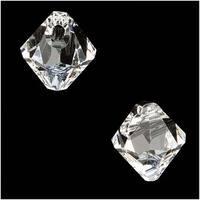 Swarovski Crystal, 6328 Bicone Beads 6mm, 10 Pieces, Crystal