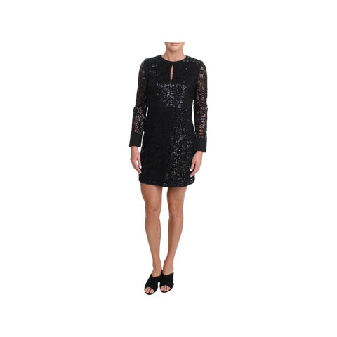 Juicy Couture Black Label Womens Party Dress Sequined Long Sleeves