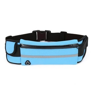 Running Belt and Travel Pack for Jogging, Cycling and Outdoors with Water Resistant Pockets (Clear – Neoprene – 1)