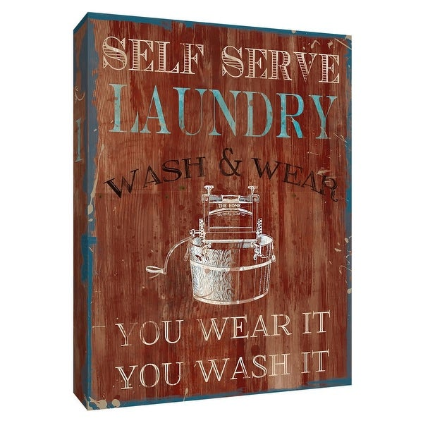 """PTM Images 9-148496 PTM Canvas Collection 10"""" x 8"""" - """"Wear It, Wash It"""" Giclee Signs Art Print on Canvas"""