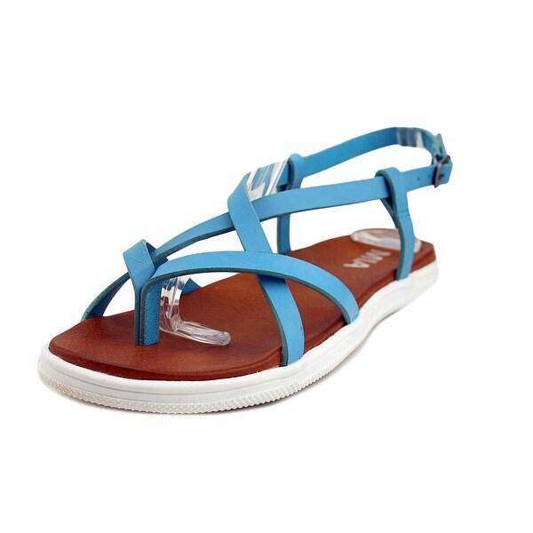 Mia Elana Women Open-Toe Synthetic Blue Slingback Sandal
