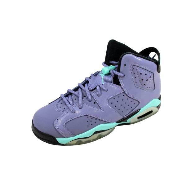 4180e4459795 Nike Grade-School Air Jordan VI 6 Retro GG Iron Purple Bleached Turquoise-