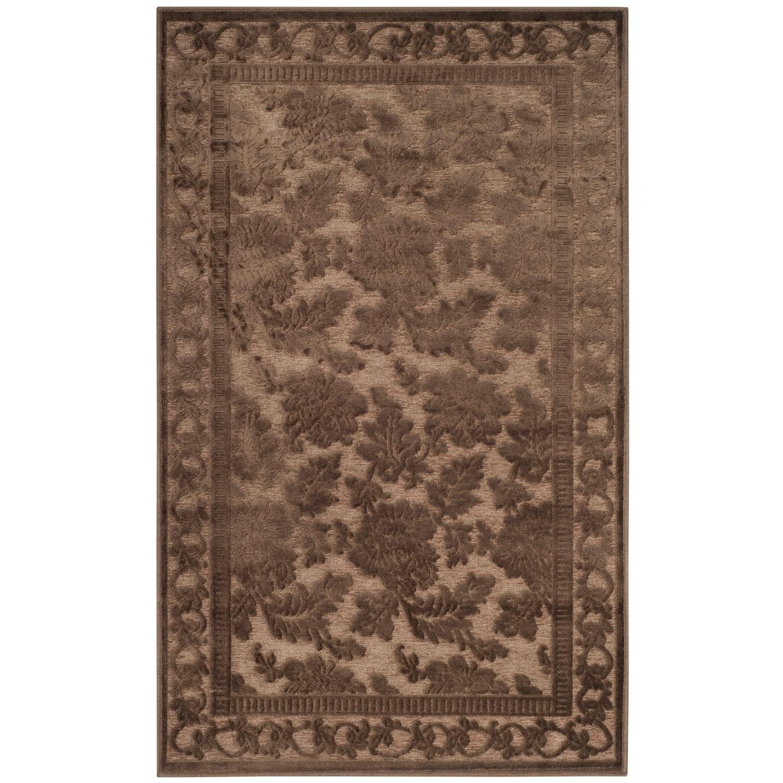 Martha Stewart By Safavieh Handmade Peony Damask Viscose Rug Overstock 7877636 8 X 11 2 Light Brown
