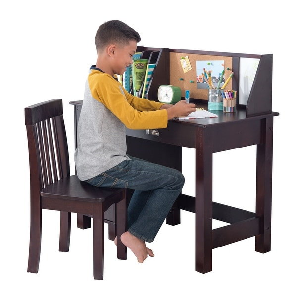 Shop Kidkraft Study Desk With Chair Espresso Free