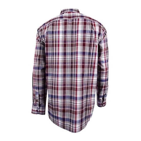 Tasso Elba Mens Plaid Shirt