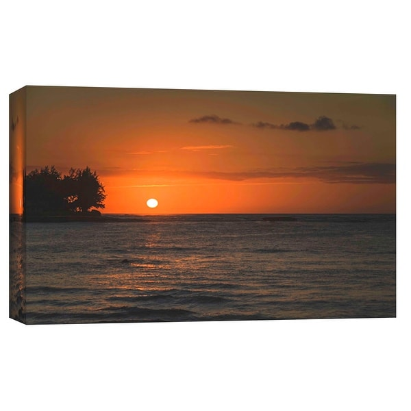 "PTM Images 9-102117 PTM Canvas Collection 8"" x 10"" - ""Beautiful Horizon"" Giclee Waves Art Print on Canvas"