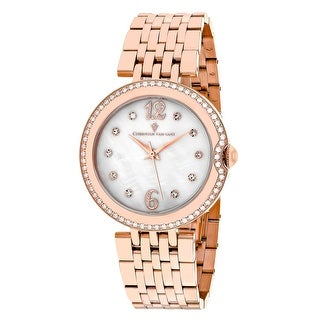 Christian Van Sant Women's Jasmine CV1612 Mother of Pearl Dial watch