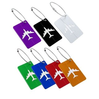 2pcs Aluminium Metal Travel Luggage Tags