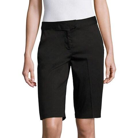 IMNYC Women's Flat Front Bermuda Walking Shorts