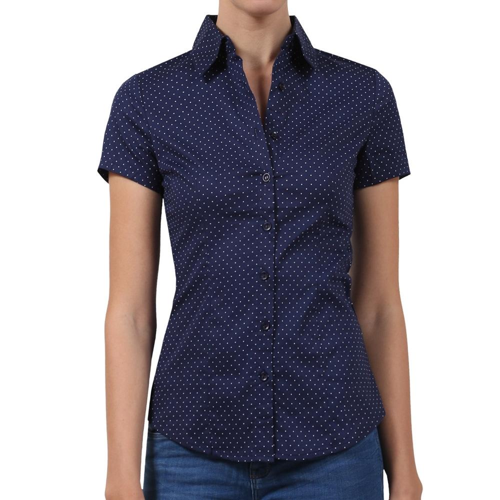 NE PEOPLE Womens Tailored Polka Dot Button Down Shirt [NEWT57]