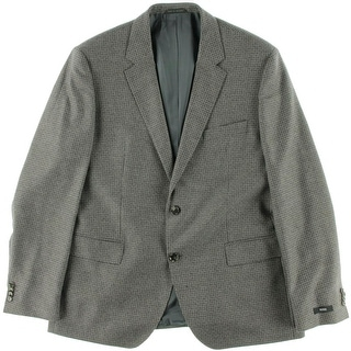 BOSS Hugo Boss Mens The James4 Wool Pattern Two-Button Suit Jacket - 42R