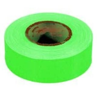 Irwin 65604 Strait-Line Glo Lime Flag Tape 150'