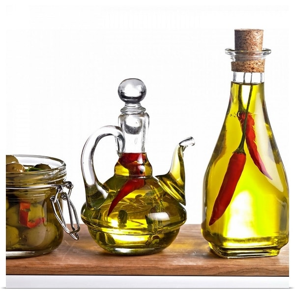"""""""Oil with chillies and olive"""" Poster Print"""