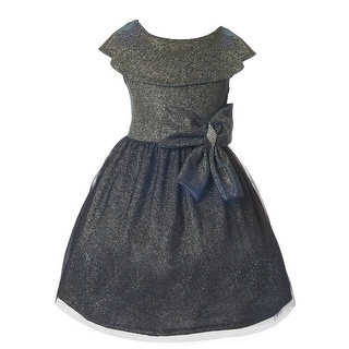 Link to Just Kids Little Girls Gold Royal Velvet Glitter Tulle Christmas Dress 4-6 Similar Items in Girls' Clothing