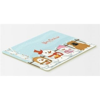 Carolines Treasures BB2453CMT Merry Christmas Carolers English Bulldog Red Kitchen or Bath Mat 20 x 30
