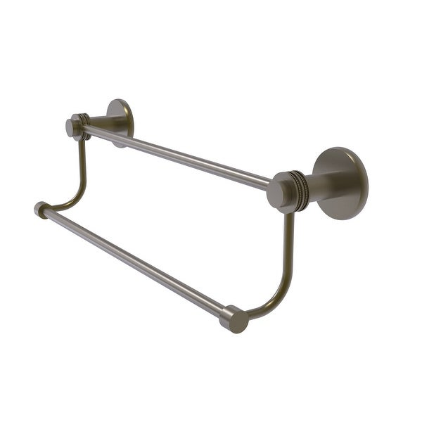 Allied Brass Mercury Collection Double Towel Bar with Dotted Accents