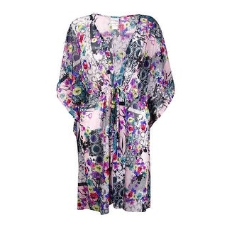 Profile by Gottex Women's Floral Print Mesh Coverup