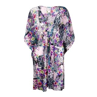 Profile by Gottex Women's Floral Print Mesh Coverup - multi